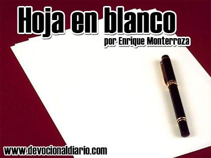 Hoja en blanco – Enrique Monterroza