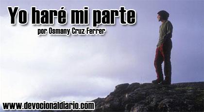 Yo haré mi parte – Osmany Cruz Ferrer