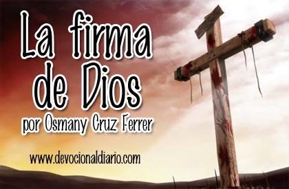 La firma de Dios – Osmany Cruz Ferrer
