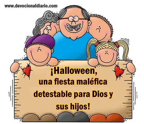el hecho de que se celebre el halloween en un pas cuya cultura es predominante es suficiente pretexto para que las personas que no conocen a dios adopten