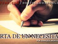 Audio Devocional – Carta de un necesitado – Enrique Monterroza