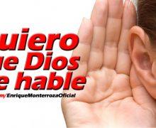 Video Devocional – Quiero que Dios me hable